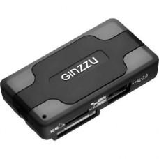 Card Reader внешний GiNZZU, (GR-417UB) USB2.0 Черный