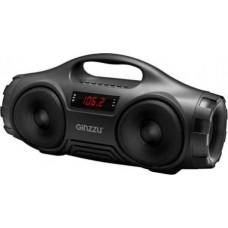 Ginzzu GM-876B Портативная Bluetooth™ стерео колонка (2х8Вт, LED дисплей, 90Гц-18КГц, 1800мАч, AUX, USB-flash, FM-радио, Subwoofer, Handsfree,