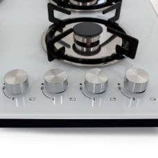 Варочная панель газовая HCG-443, стекло 4 конф, белая