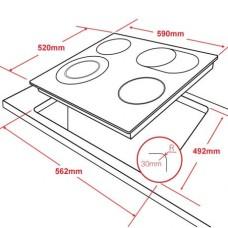 Варочная панель HCC-462, стеклокерамика 4 конф, черная