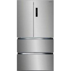 Многокамерный холодильник Ginzzu NFK-470 стальной