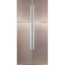 Двухкамерный холодильник Ginzzu NFK-590 золотистый