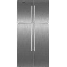 Двухкамерный холодильник Ginzzu NFK-590 стальной