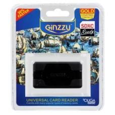 Карт-ридер USB 2.0 Ginzzu GR-416B, Black
