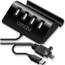 4-port USB Type C / microUSB / USB2.0 Hub GiNZZU GR-519UB