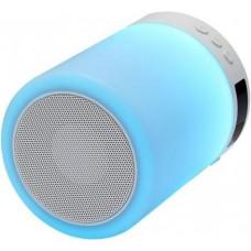 Ginzzu GM-893W, BT-Колонка 5W/LED/RGB/TF/AUX/FM/часы/будильник